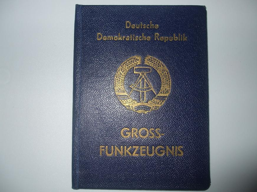 Grossfunkzeugnis 1. Klasse Deutsche Post KW