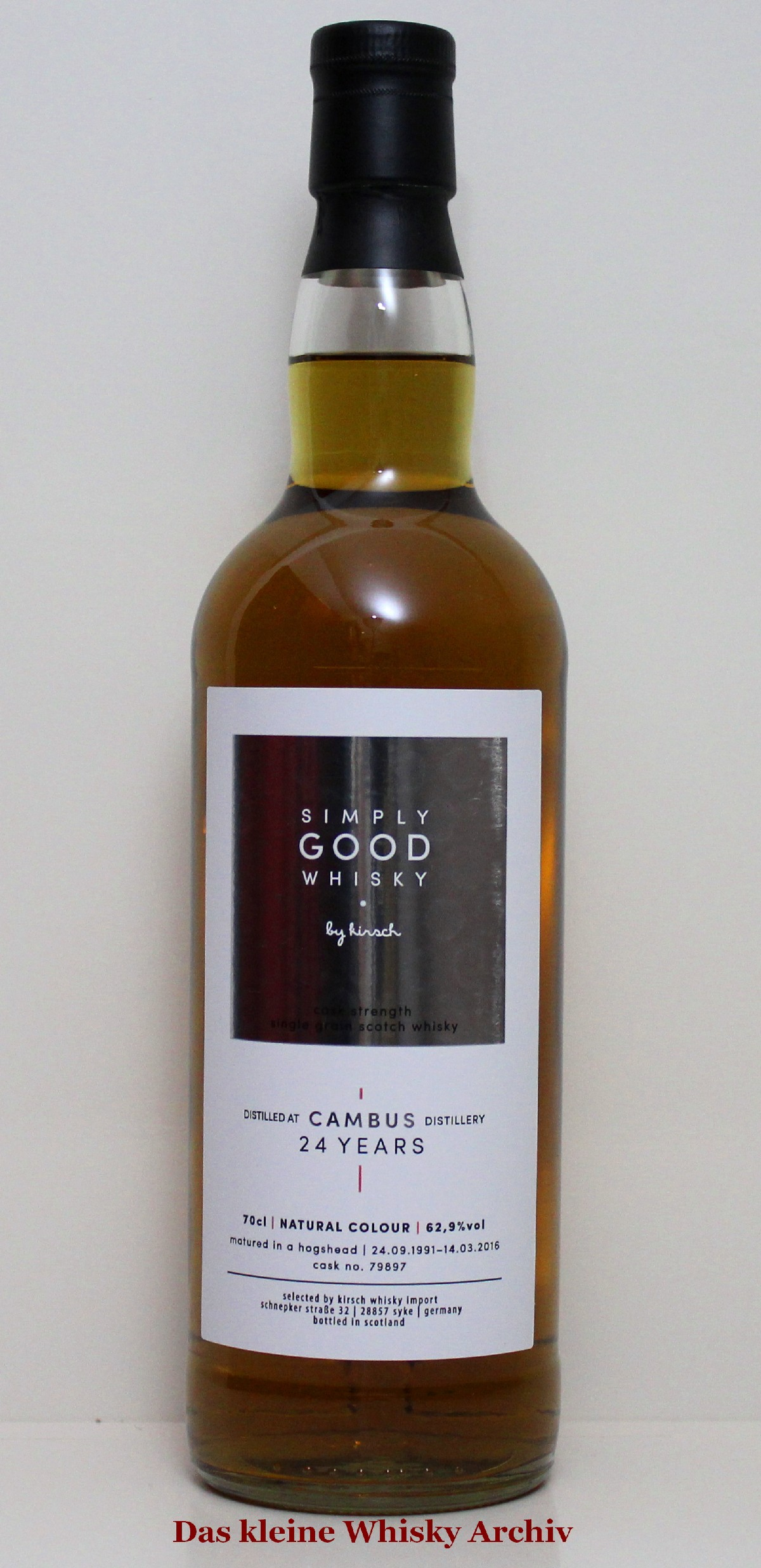Cambus Single Grain (Simply Good) 62,9%Vol. 0,7l
