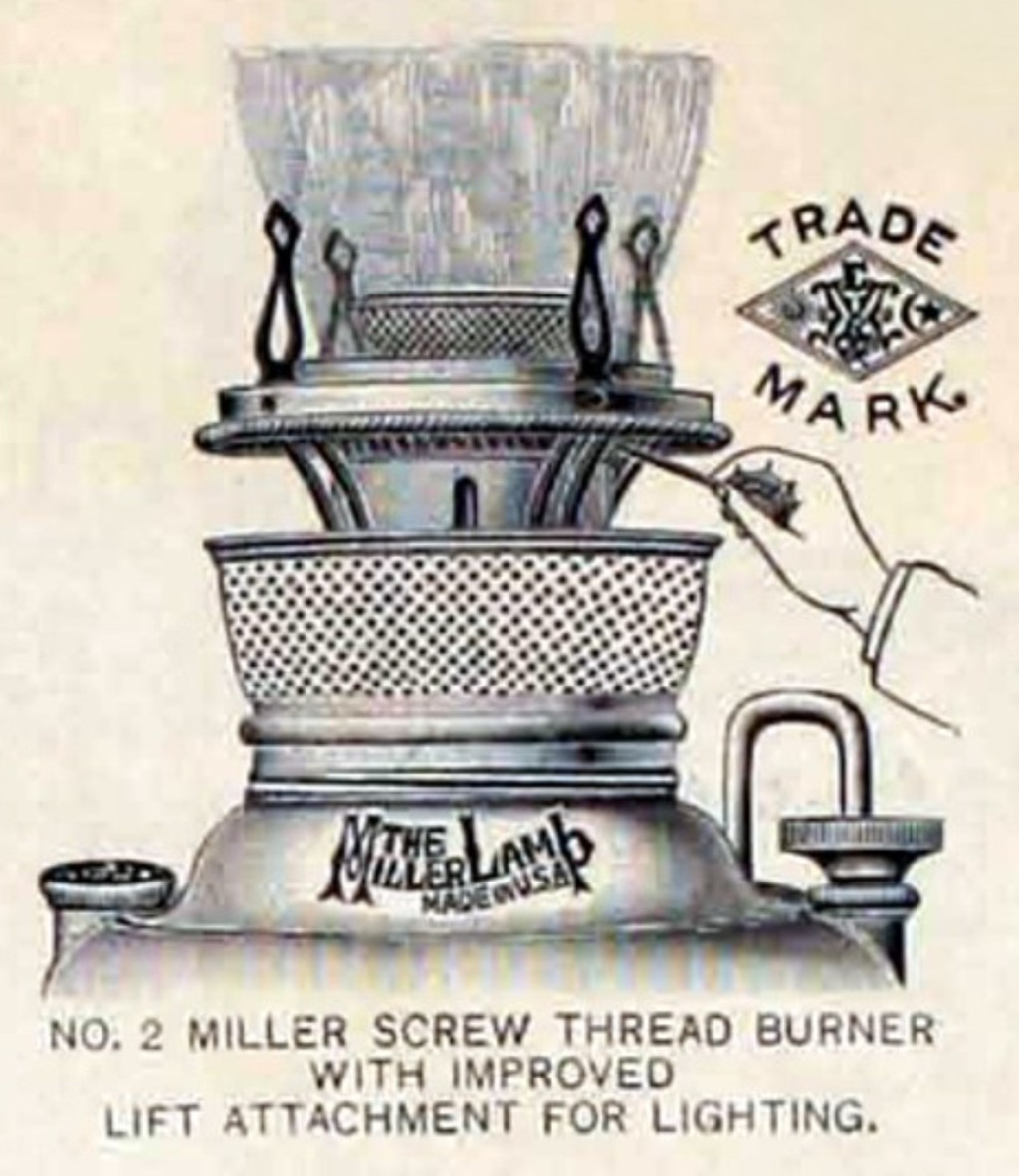 EM & Co.E. Miller Lamps Kerosene Lamp Edward Mille