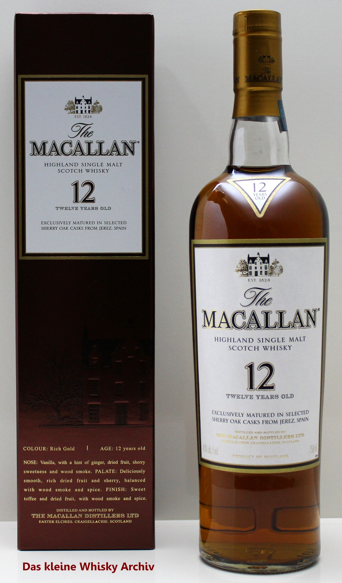 The Macallan 12 Jahre Sherry Oak 43%vol. 0,7l