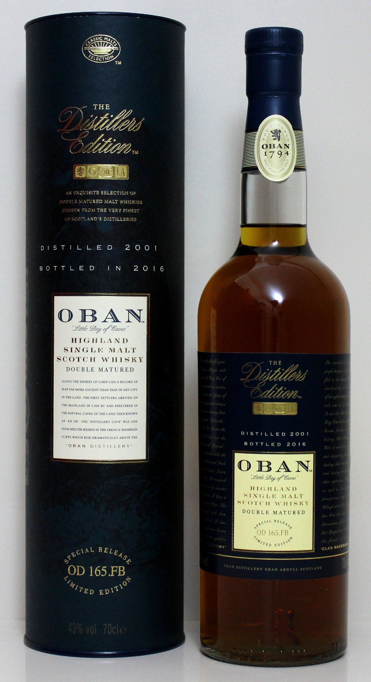 Oban Distiller's Edtion 2001/ 2016 43%Vol. 0,7l