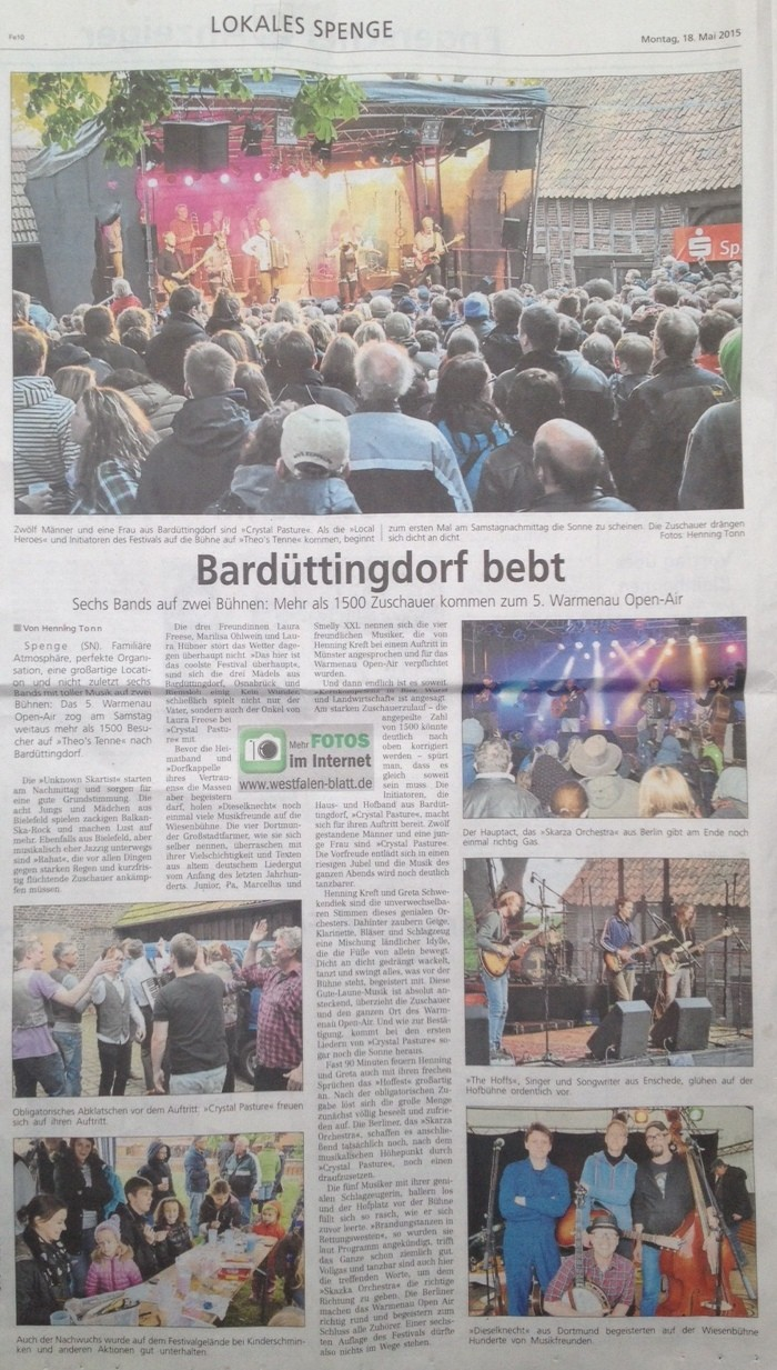 Westfalenblatt Spenge Warmenau
