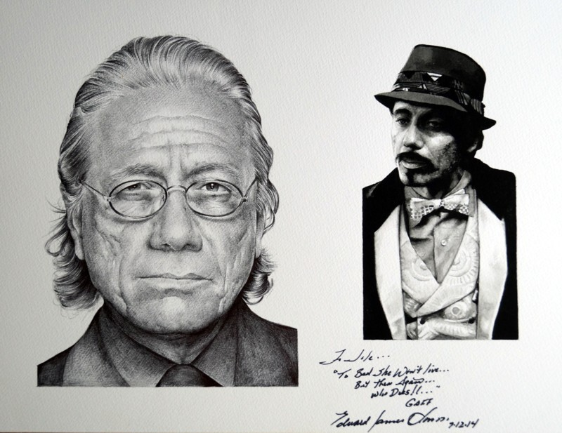Edward James Olmos Jole Stamenkovic signedportrait