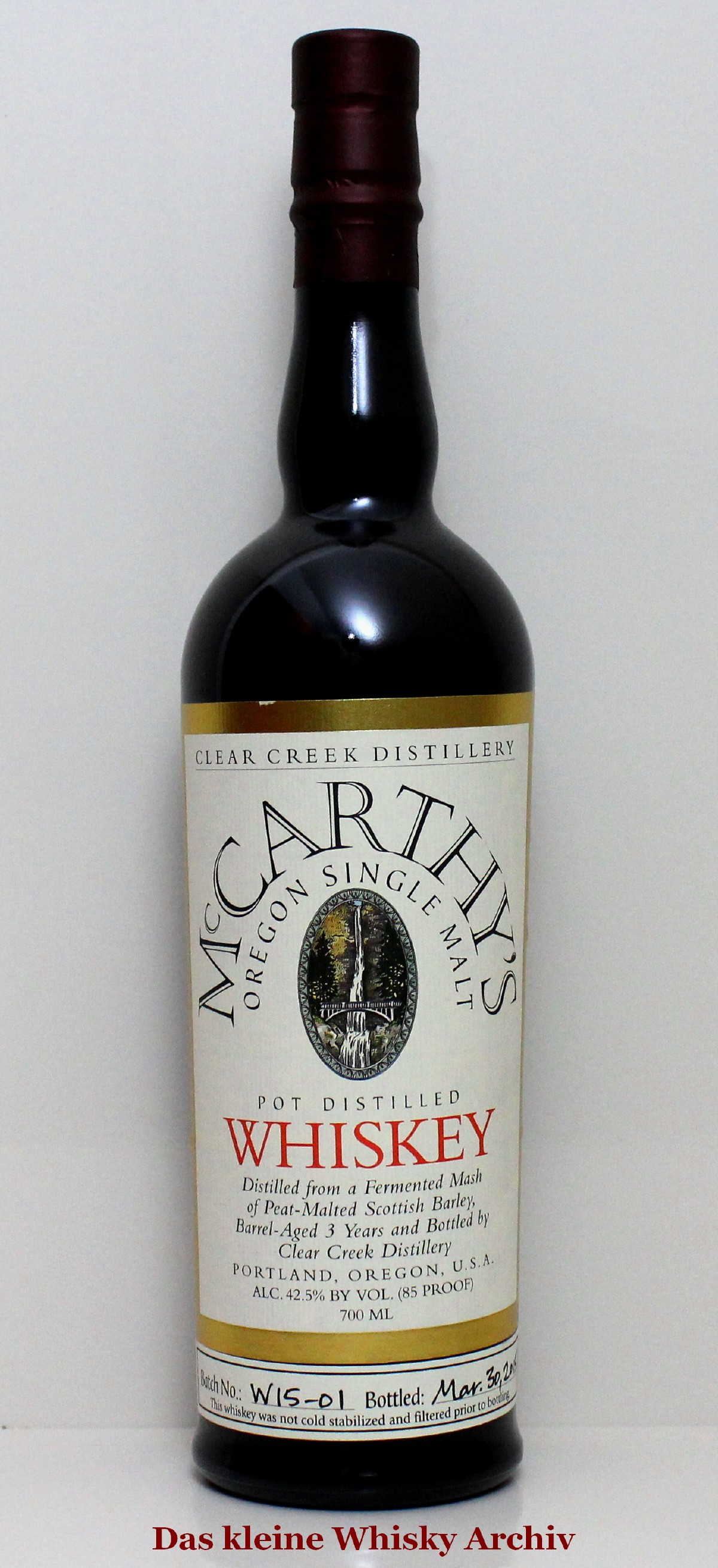 McCarthy's Oregon Single Malt 42,5%vol. 0,7l