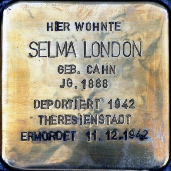 Stolperstein von: Selma London